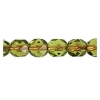 Fire Polished 6mm Transparent Olivine Copper Lined